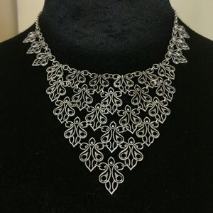 Marilyn Schiff Stunning Linked Bib Necklace